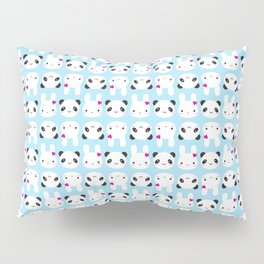Super Cute Kawaii Bunny and Panda Pillow Sham
