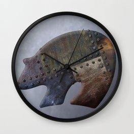 Rusty Bear Metals Wall Clock