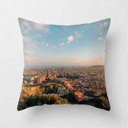 Over Barcelona 01 Throw Pillow