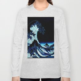 the Great Wave Blue Long Sleeve T-shirt