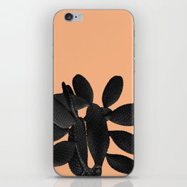 Black Pastel Orange Cacti Vibes #1 #plant #decor #art #society6 iPhone Skin