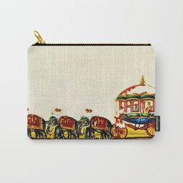 Classical Masterpiece 1820 'Maharaja Elephant-drawn Carriage, Bombay, Indian - Artist Unknown Carry-All Pouch