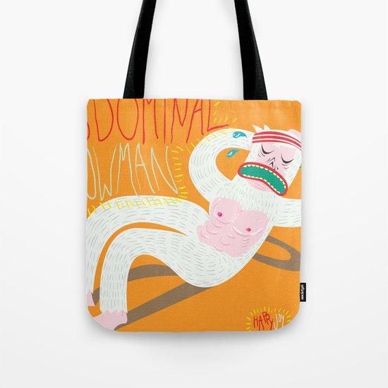 Abdominal Snowman Tote Bag