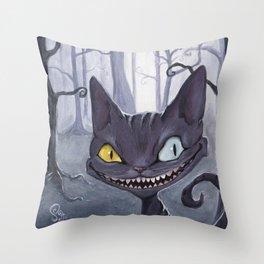 Devnish cheshire like cat Throw Pillow