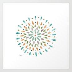 Watercolor Abstract Circles Art Print