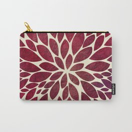Petal Burst - Maroon Carry-All Pouch