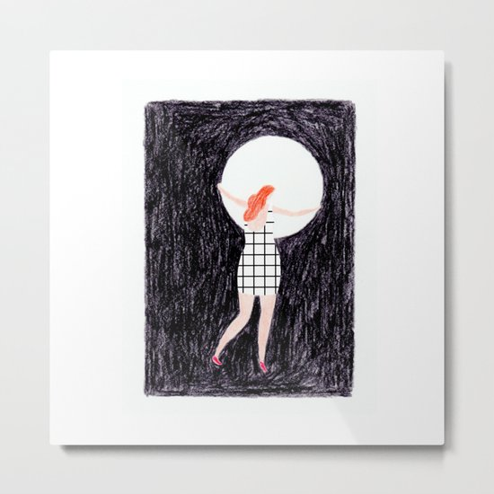 The girl who stole the moon Metal Print