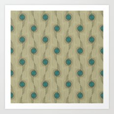 Turquoise Circles Pattern Modern Abstract Art Print