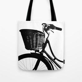 Vintage Bicycle Decor | Bicyclist | Biking Life | Bicycle Art Tote Bag