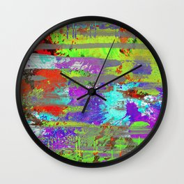 Colour Injection II Wall Clock