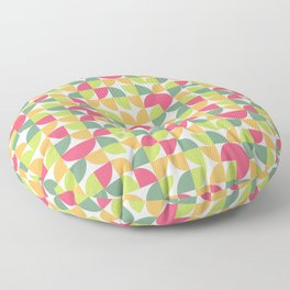 Circle Pattern (Red, Yellow, Green) Floor Pillow