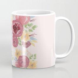 Big Burgundy Flowers Coffee Mug