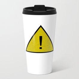 Caution Critical ! Metal Travel Mug