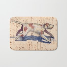 Metal Dog from France Bath Mat