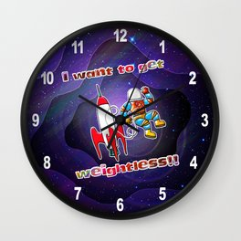 I Want to Get Weightless! Wall Clock