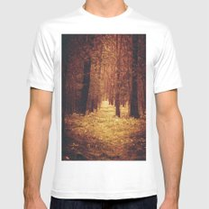 Forest Path Mens Fitted Tee MEDIUM White