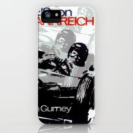 Vintage German 1967 Racing Car Poster iPhone Case