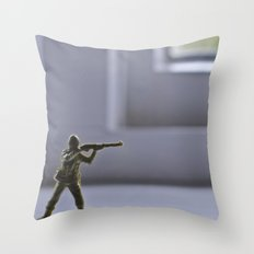 Alone Wolf Throw Pillow