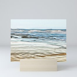 Abstract waves on the beach Mini Art Print