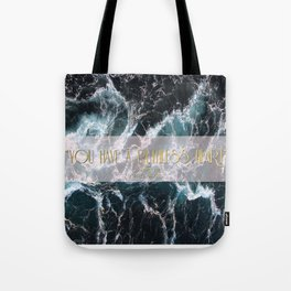 """You have a ruthless heart"" Tote Bag"