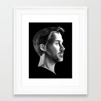 ryan gosling Framed Art Prints featuring Ryan Gosling by anomaly alice