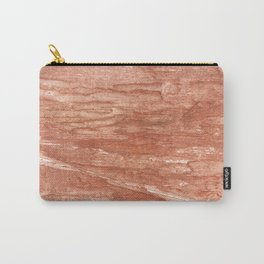 Dark salmon streaked wash drawing background Carry-All Pouch