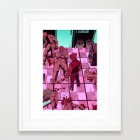 hotline miami Framed Art Prints featuring Hotline Miami by JD Faith