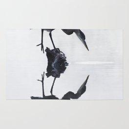 Blue Heron in High Key Rug