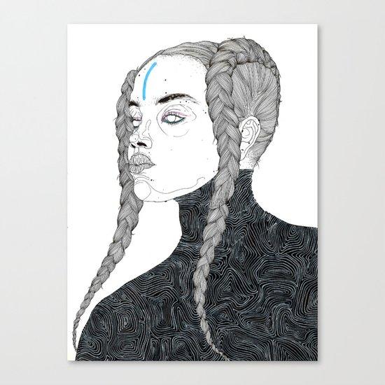 DoodleGirl One Canvas Print