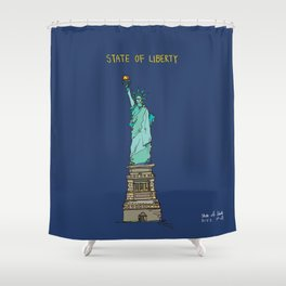 State of Liberty Shower Curtain
