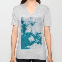 Sky Blue - Clouds Skyscape Photography Unisex V-Neck