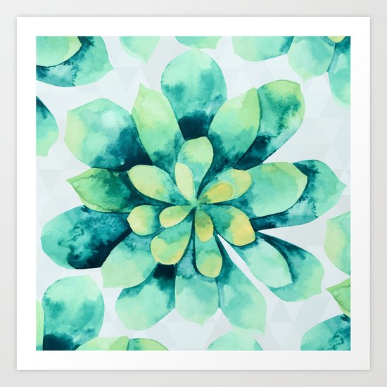 tropical flower  Art Print