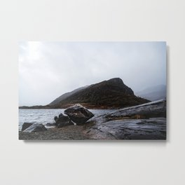 Misty Irish lake Metal Print