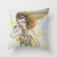 She Listens Throw Pillow