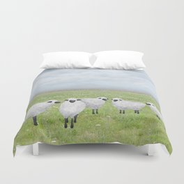 sheep and queen anne's lace Duvet Cover