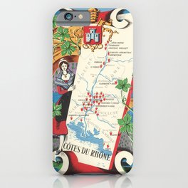 1950 Poster of Alsace, Loire Valley in France iPhone Case