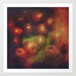 Once Upon a Time a Red Apple Art Print