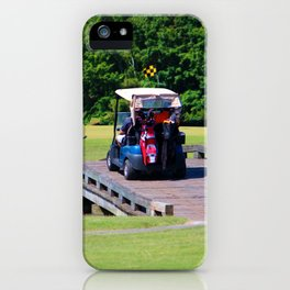 A Day Of Golf iPhone Case