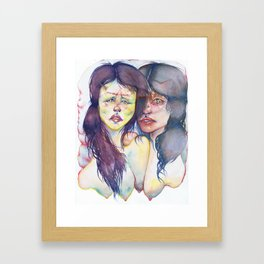We Were Marked With What We Were Before We Knew Framed Art Print