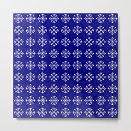 snowflake 5 Christmas ornementation Metal Print
