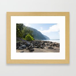 The Escape from the Kalaupapa Trail to the Beach Framed Art Print