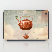 tea iPad Cases featuring Tea for Two at Dusk by Paula Belle Flores