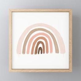 rainbow pink minimalist Framed Mini Art Print