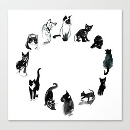 horloge Canvas Print