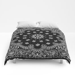 Bandana Black - Traditional Comforters