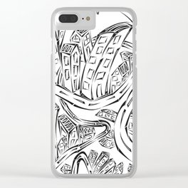 Entangled City Clear iPhone Case