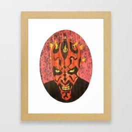 Darth Maul Stencil  Framed Art Print