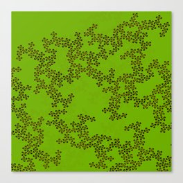 Abstract Floral Patterns (Green) Canvas Print