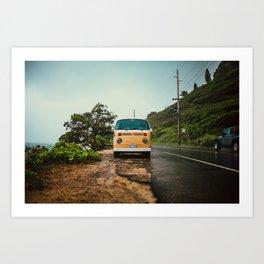 Vintage Island Bus Art Print