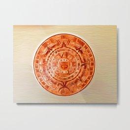Montezuma's Calendar Metal Print